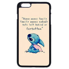 Stitch And Lilo Ohana For iPhone 4 4S 5 5S SE 5C 6/6S Plus iPod Touch 4 5 6 Case