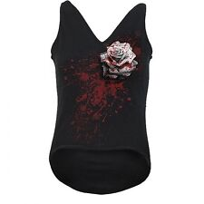 White Rose V-Neck,T-Shirt,Tank Top,women,Gothic,new