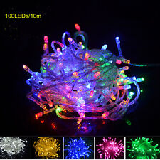 Colorful 10M 100LED String Fairy Lights Christmas Wedding Party Xmas LED Light