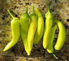 Hungarian Yellow Wax Heirloom Hot Pepper Fresh Hand-Packaged Seeds