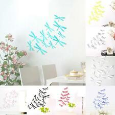 12pcs 3D DIY Decor Dragonfly Home Party Wall Stickers PVC Art Decal Room Decor