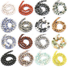 "Wholesale 15"" Agate Onyx Gemstone Faceted Round Loose Beads Craft 4/6/8/10/12mm"