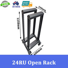 "24RU 24U 19"" 19 INCH OPEN RACK DATA RACK SERVER CABINET"