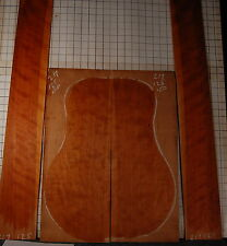 quartersawn curly cherry tonewood guitar luthier set back and sides