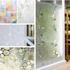 Lattice 45cm x 2m Frosted Toilet Glass Stickers Window Film Wintersweet Decor