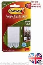 3M Command Medium Adhesive Strips Damage Free Picture Frame Poster Hanging