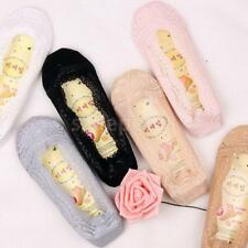 Lady Low Cut Socks Cotton No-Show Socks Nonslip Ankle Socks Lace Foot Cover Peds
