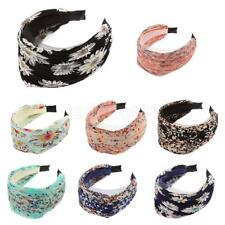 Wide Floral Sunflower Lace Aliceband Headband Hair Accessory Lady Party Office