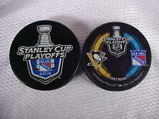 2016 NHL New York Rangers Stanley Cup Playoffs Two Hockey Puck Souvenir Pack