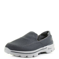 Mens Skechers Go Walk 3 Charcoal Slip On Comfort Walking Activity Shoes Shu Size