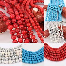Lots Hot Round Loose Spacer Bead Charming Pendant Necklace Crafts 4/6/8/10/12mm