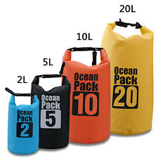 2L 5L 10L 20L Water Resistant Storage Dry Carry Bag Sack Boat Kayak Camp Float