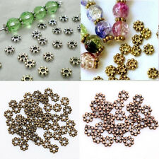 Wholesale 1000PCS Tibetan Daisy Spacer Metal DIY Beads Jewelry Making 4/6mm