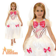 Child Barbie Bride Costume Girls Fancy Dress Outfit New