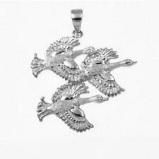"""Sterling Silver SWANS BIRD Pendant, Made in USA, 18"""" Italian Box Chain"""