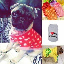 1x Summer Cute Small Dog Cat Clothes Vest Pet Puppy T-shirt Coat Multi-Style 7GS