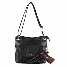 Concealed Carry Gun Holster Purse - Twist Lock Pocket Crossbody by Roma Leathers