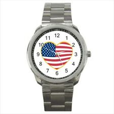 USA Flag Converted Stainless Steel Watches - American Home States (USA)