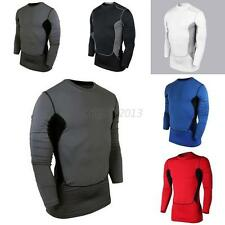 Men Tight Muscle Long Sleeve Shirt Compression Base Layer Sport Gear Crewneck