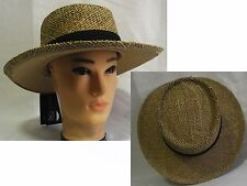 New cool summer panama Style Straw hat cap Crushable trilby fedora stingy brim