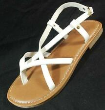 NEW Womens S.O. CHARLOTTE/SMORES White Fashion Thongs Sandals Dress Casual Shoes