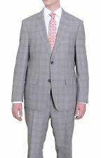 Mens Modern Fit Taupe Stepweave With Blue & White Overcheck Two Button Wool Suit