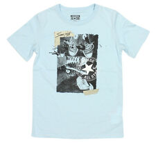 BOYS CONVERSE ALL STARS BOOTS LOGO FASHION T-SHIRT STYLE 964535 - SKY BLUE