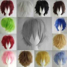 UNISEX Fashion Short Wig Cosplay Party Straight Women Men Synthetic Hair Wig Cap