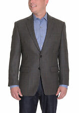 Ralph Lauren Olive Plaid Houndstooth Two Button Wool Blazer Sportcoat