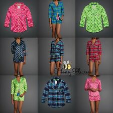 NWT Gilly Hicks Abercrombie & Fitch Sleep Shirt Polka Dot Plaid Sleepwear S M L