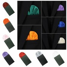 Men Trendy Pocket Square Polyester Handkerchief Hanky Wedding Party Suit Pocket