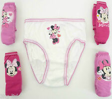 Disney Minnie Mouse Girls Briefs Pack of 5 Knickers Underwear Various Ages New