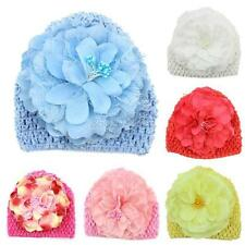 Winter Warm Baby Toddler Flower Beanie Hat Hand Cap Kids Girls Crochet Knit Caps