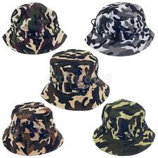 Hot Camo Fishing Hiking Hunting Outdoor Brim Military Bucket Sun Hat Boonie Cap