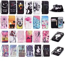 Card Holder Wallet Cover for Samsung S6 Edge S5 Phone Protective Stand Flip Case