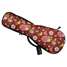 Padded Hawaii Dancing Girl Ukulele Gig Bag Ukulele Case for Soprano Concert UKE