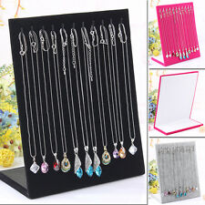 Fashion11 Hook Necklace Jewelry Pendant Chain L type Velvet Display HolderStand