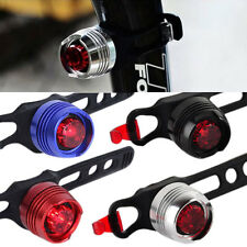Bike Bicycle Safety Warning Rear 2 Modes Flashing Tail Light with Silicone Band