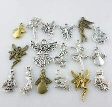 Mixed Lots of Gold/Silver/Bronze Angel Fairy Genius Charms Pendants Designs