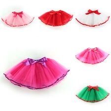New Girl Bow Tutu Skirt Puff Dance Dress Ballet Dancewear Free Size 6 Color 2-7Y