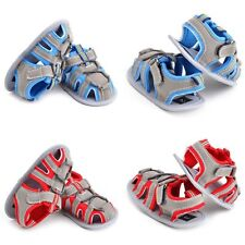 Toddler Kids Baby Soft Sole Crib Anti-slip Toddler Sandals Shoes Boys Summer New