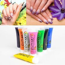 New Pro Colors Painting Pigment Design Tube Acrylic Paint 3D Nail Art Tip 22ML