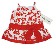 """TUTTO PICCOLO """"Cherry Kirsche Summer Sommer"""" girls dress gown (white/red) NEW"""