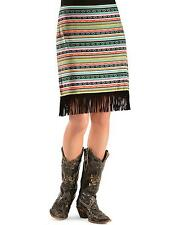 Women's Cowgirl Justice Multi-Color India Fringe Skirt - 1298