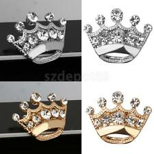 Elegant Silver Gold 12pcs Rhinestone Women Royal Tiara Crown Brooch Pin Corsage