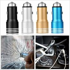 Dual USB 2.1A Car Charger 2 Port Adapter For iPhone Samsung & Emergency Hammer