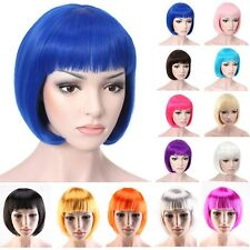 HOT SALE Lady BOB Straight Wig Charming Cosplay Anime Party Dress Short Full Wig