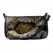 Crocodile Eye Mini Coin Purse & Shoulder Clutch Handbag