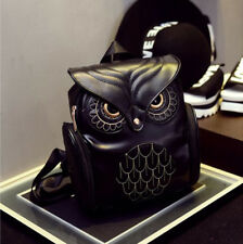 fashion vintage Owl Elegant Women Bag PU Leather Backpack Synthetic leather