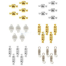 5 Sets of Magnetic Clasps Hook Connector Findings for Jewelry Making-Gold/Silver